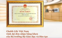 Bộ Giáo dục và Đào tạo trao tặng Bằng khen cho Chubb Life Việt Nam