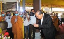 Phó thủ tướng Trương Hòa Bình viếng hương hòa thượng Thích Thiện Duyên
