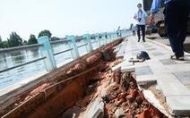 Sau chỉnh trang vỉa hè, bờ kè sông Cà Ty Phan Thiết nứt toác và sụp lún