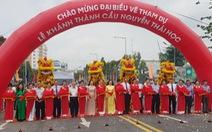 Phó chủ tịch nước Võ Thị Ánh Xuân dự lễ khánh thành cầu Nguyễn Thái Học