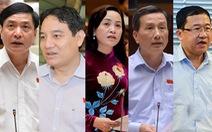 Trình Quốc hội bầu chủ nhiệm một số ủy ban, tổng thư ký, tổng Kiểm toán Nhà nước