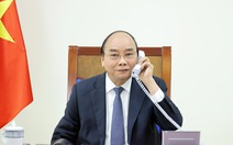 Chủ tịch nước Nguyễn Xuân Phúc nhắc lại lời mời Tổng thống Pháp Macron thăm Việt Nam