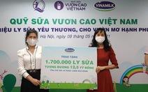 1,7 triệu hộp sữa đến với trẻ em khó khăn giữa dịch COVID-19