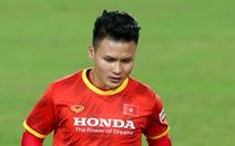 Quang Hải phải tập riêng nhưng 'không bị chấn thương'