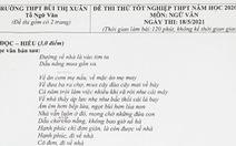 'Đi về nhà' của Đen Vâu vào đề thi thử lớp 12 Trường THPT Bùi Thị Xuân