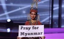 Hoa hậu Myanmar dự thi Miss Universe bác tin bị truy nã, nói chưa dám trở về