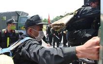Hơn 200 cán bộ chiến sĩ cảnh sát tiếp tục chi viện cho Bắc Giang