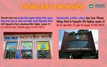 KHẨN: TP.HCM tìm người đến nhà sách Nguyễn Huệ và Starbucks quận 1