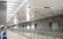 Dự án metro số 1: nhà ga trung tâm Bến Thành đã hoàn thành gần 87%