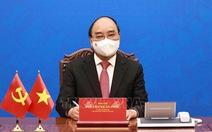 Chủ tịch nước Nguyễn Xuân Phúc điện đàm với Chủ tịch Trung Quốc Tập Cận Bình