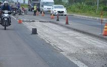 Đoạn quốc lộ hơn 4.000 tỉ chưa nghiệm thu đã hư hỏng
