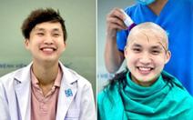 Bác sĩ trẻ cạo đầu trước khi vào tâm dịch: 'Có tóc hay không thì nụ cười vẫn tỏa nắng'