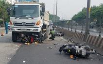Xe ben lao vào công trình đang thi công, 1 người chết, 3 người bị thương