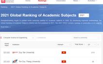 Ngành khoa học máy tính và kỹ thuật máy tính của ĐH Duy Tân nằm trong Top 301 - 400 thế giới