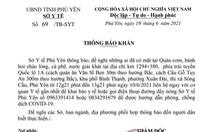 Phú Yên thông báo khẩn tìm người tiếp xúc tài xế dương tính với SARS-CoV-2