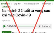 Sở TT&TT TP.HCM đề nghị xử phạt báo điện tử Dân Trí vì thông tin sai về COVID-19