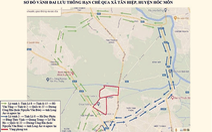 Xe cộ qua lại khu vực phong tỏa chống dịch COVID-19 huyện Hóc Môn ra sao?