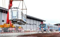 Đẩy nhanh lắp đặt đoàn tàu số 4 (tuyến metro 1) tại depot Long Bình vì trời trở mưa