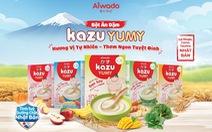 Aiwado ra mắt bột ăn dặm Kazu Yumy với tinh túy dưỡng chất từ Nhật Bản