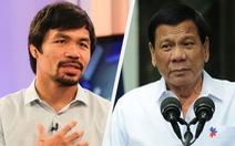 Ông Duterte thách võ sĩ quyền anh Pacquiao vạch mặt tham nhũng