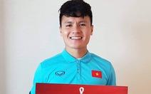 Quang Hải nhận danh hiệu cầu thủ xuất sắc nhất trận đấu tại UAE