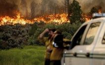 Mỹ nóng kỷ lục 54 độ C, nước từ máy bay chữa cháy chưa tiếp đất đã bốc hơi