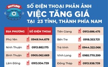 Số điện thoại phản ánh tình trạng tăng giá của 23 tỉnh thành phía Nam