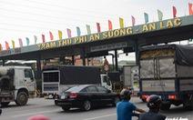 Từ 12h trưa 20-7, các trạm BOT tại TP.HCM tạm ngừng thu phí