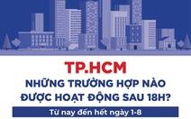 Dễ theo dõi: Những trường hợp được hoạt động sau 18h ở TP.HCM