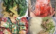 Chùm ngây, chuối xanh, củ cải, cà chua và những món ăn nấu từ phòng trọ ngày cách ly