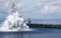 Tàu sân bay Mỹ thử nghiệm chịu được vụ nổ tương đương động đất 3,9 độ