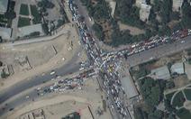 Cuộc di tản ở Kabul nhìn từ ảnh vệ tinh