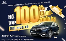Nhận ngay ưu đãi 100% lệ phí trước bạ khi mua Honda CR-V trong tháng 8-2021