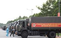 Đoàn xe chở 50 tấn rau, củ của Quân khu 9 lên đường hỗ trợ người dân TP.HCM