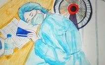 Những bức vẽ xúc động về cuộc chiến chống COVID-19 của cô giáo ở Vũng Tàu