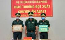 Trao thưởng 50 triệu đồng cho Biên phòng Tịnh Biên đã bắt vụ 5kg vàng