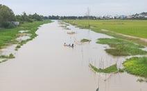 Nước lũ xăm xắp, người dân tất bật bủa lưới, đặt dớn đánh bắt cá đồng