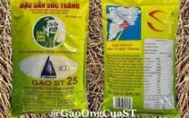 Gạo ST25 in hình ông Hồ Quang Cua để chống hàng giả, vài ngày xuất hiện bao bì y chang