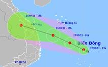 Vùng áp thấp trên Biển Đông tăng cấp, hướng nhanh vào bờ biển Đà Nẵng, Bình Định
