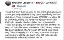 Bị 'tố' đánh bạc trong mùa dịch, chủ tịch phường ở Hà Nội khẳng định không vi phạm