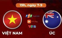 Lịch trực tiếp trận Việt Nam - Úc ở vòng loại thứ 3 World Cup 2022