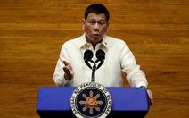 Ông Duterte nói ra tranh cử tiếp vì yêu nước, không phải tham quyền