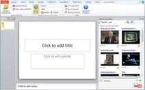 Tìm và chèn ảnh, clip YouTube vào slide PowerPoint
