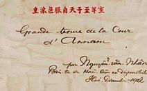 Bộ tranh quý về triều Nguyễn chào bán tại Mỹ