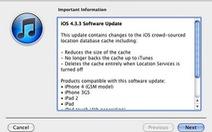 """Lỗi """"theo dõi người dùng"""" được sửa trong iOS 4.3.3"""