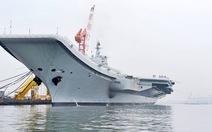 Tàu sân bay Trung Quốc chạy thử nghiệm