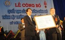 Trường ĐH Tài chính kế toán Quảng Ngãi ra mắt