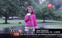 Jane Haubrich - phóng viên truyền hình nhỏ tuổi nhất