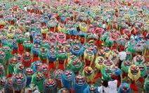 Gần 4.000 trẻ em Đài Loan lập kỷ lục Guinness về múa lân