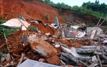 Yên Bái: Sạt lở đất vùi lấp 4 nhà, hai bà cháu tử nạn